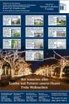 Ganzseitige Zeitungsanzeige mit Immobilienangeboten
