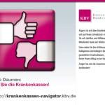 Anzeige mit Logo Krankenkassennavigator