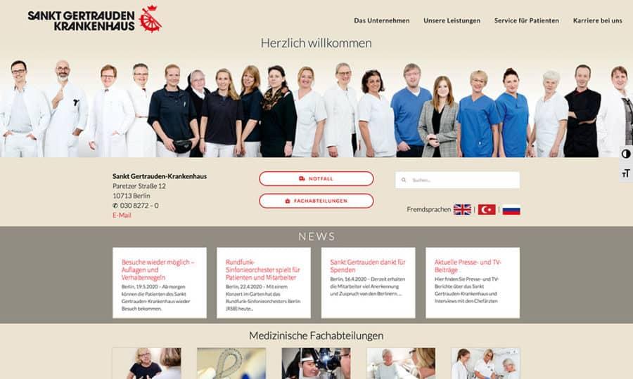 Homepage Sankt Gertrauden