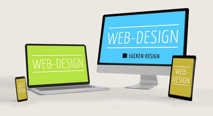 Webdesign Lücken-Design