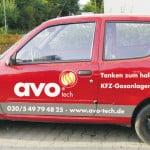 Werbebeschriftung am Auto