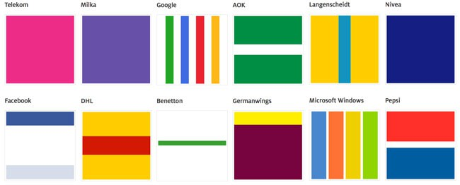 Corporate-Design Farben bekannter Marken
